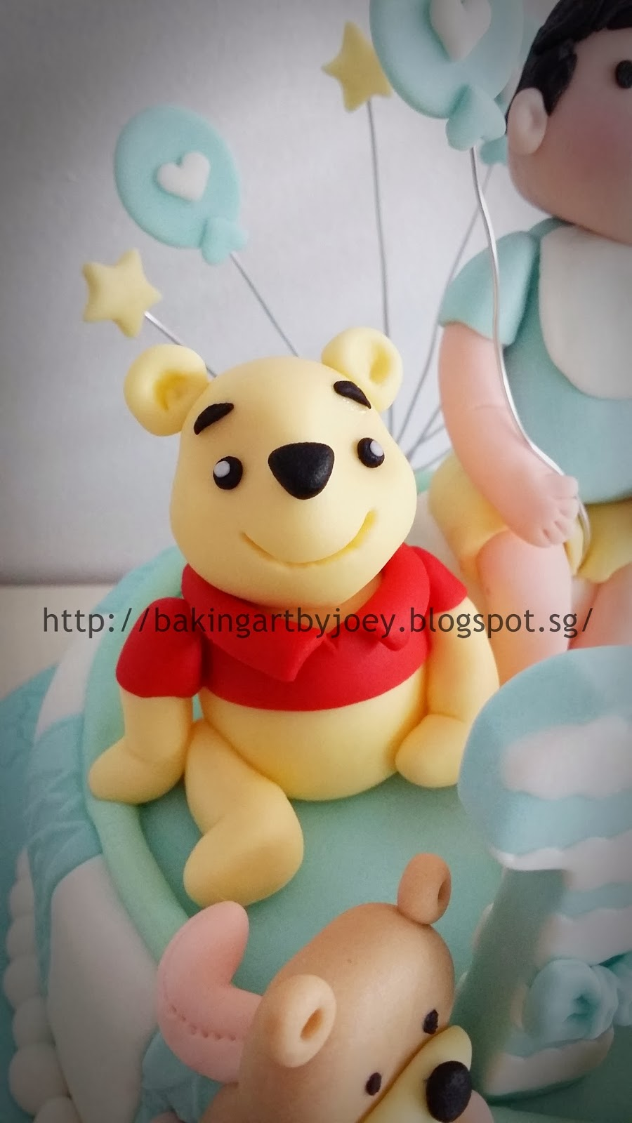Baking Art By Joey 3d Winnie The Pooh First Birthday Fondant Cake