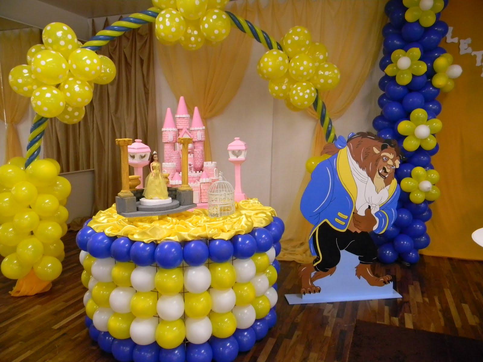 Decorações  Festas Infantis: Festa Bela e a Fera  Expuleto Caçador #B79A10 1600 1200