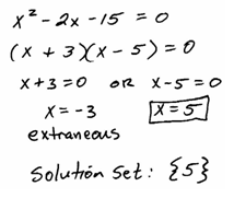 Whenever You Raise Both Sides Of An Equation To An Even Power, You  Introduce The Possibility Of Extraneous Solutions So The Check Is Essential  Here.