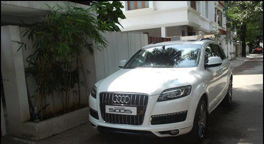 Tamil Actor Suryas Audi Q Celebrity Cars India - Audi car number