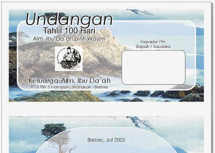 Free Download Motif Undangan Tahlil & Doa 100 Hari Kematian Bersama