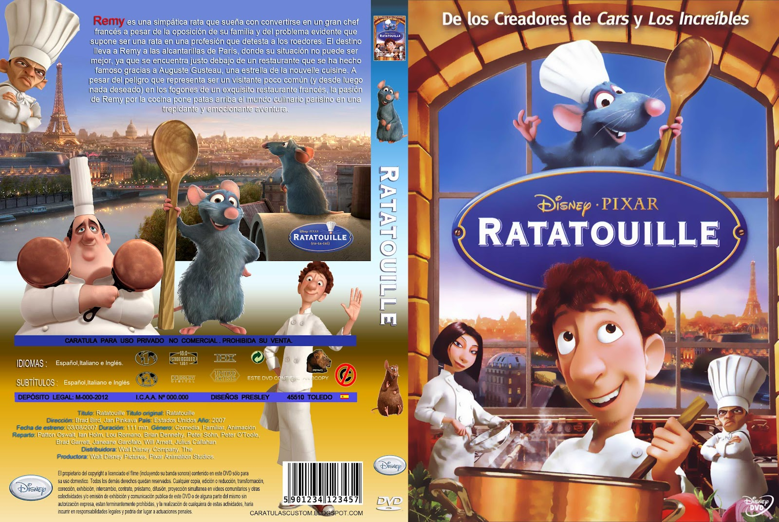 Displaying 16> Images For - Ratatouille Dvd Cover...Ice Age 3 Poster