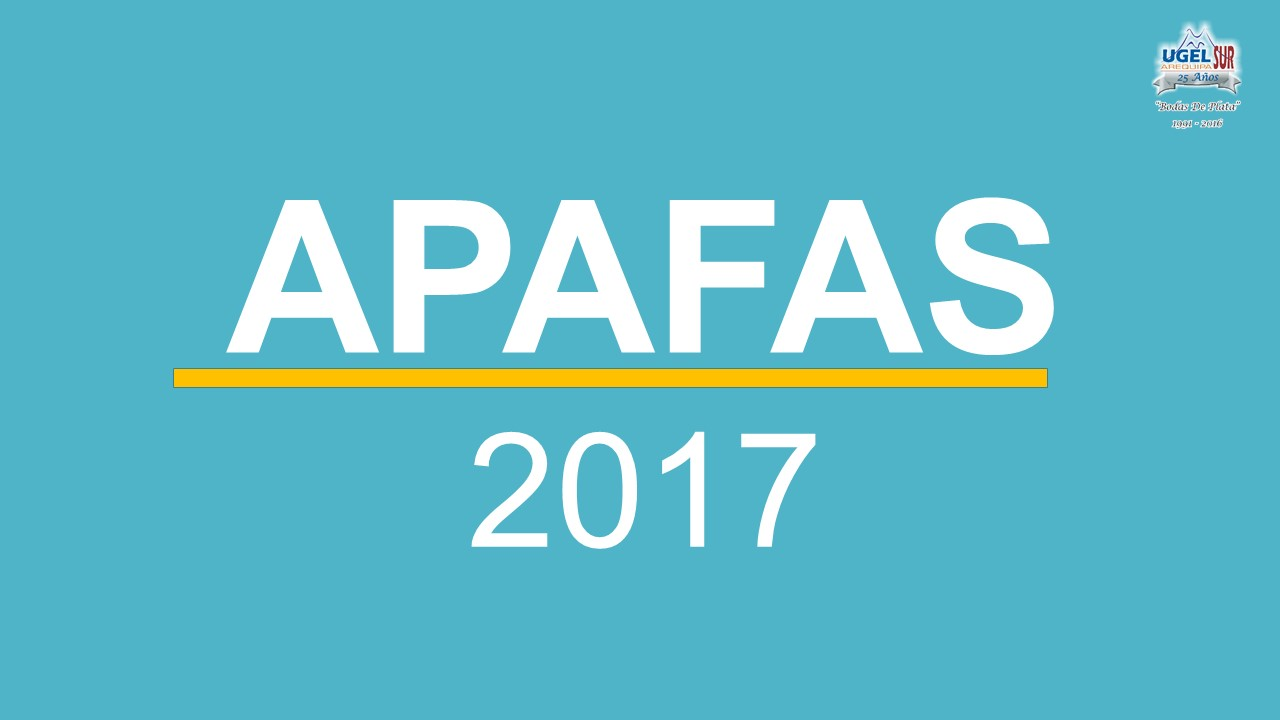 APAFAS 2017 - UGEL AREQUIPA SUR