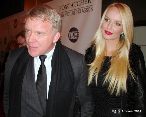 Anthony Michael Hall and Lucia Oskerova at Philadelphia's Foxcatcher premiere