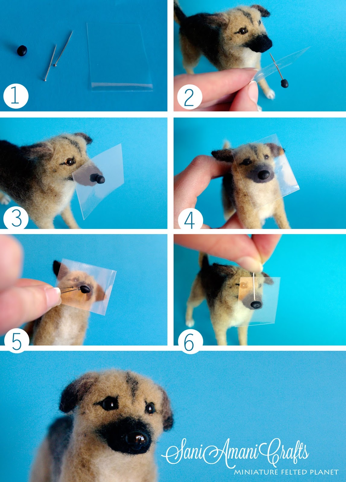 How To Make Dog Eyes And Nose With Polymer Clay
