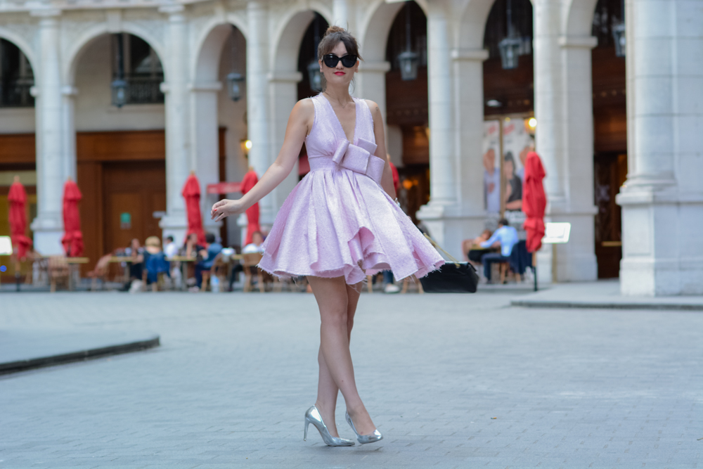 Parisian fashion blogger, Mode, style, Look, Pink Dress, Meet me in paree