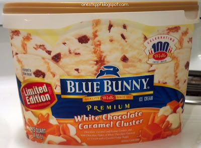 One step at a time blue bunny white chocolate caramel for White chocolate macadamia nut ice cream