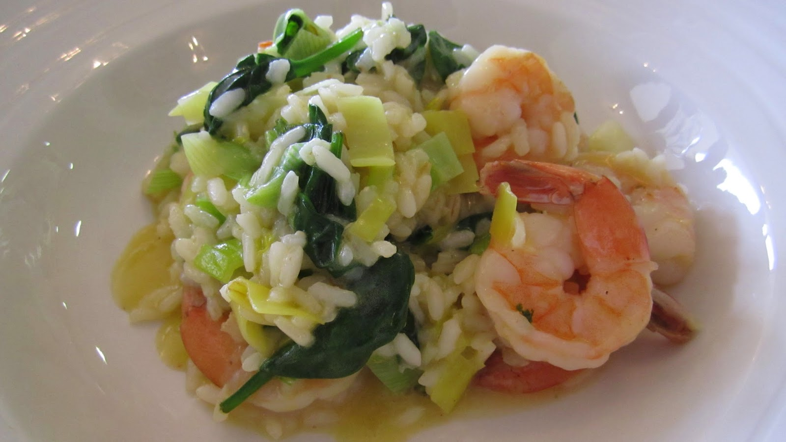 country kitchen Wolgan Valley nsw australia prawn and leek risotto