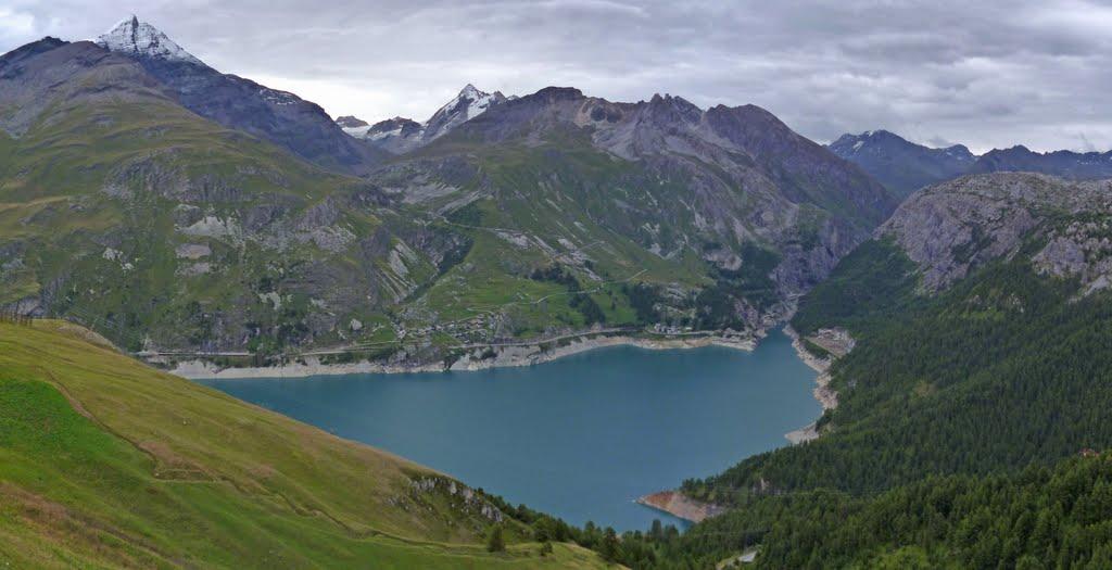Zinaztli cicloturismo de monta a con alforjas traves a de los alpes 11 le monal tignes le lac - Lac du chevril ...