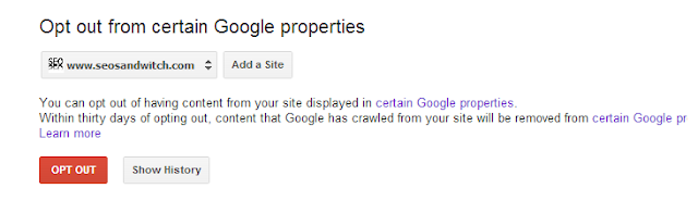 Google Opt Out Tool