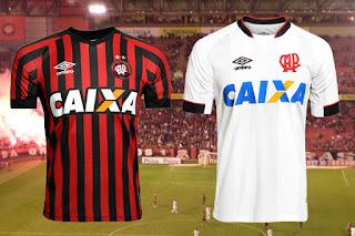 Uniformes I e II Atlético-PR Umbro