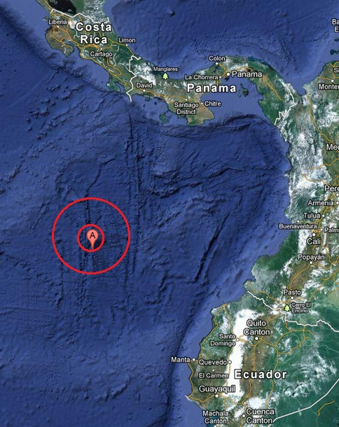 off the coast of central america earthquake 2013 March 31