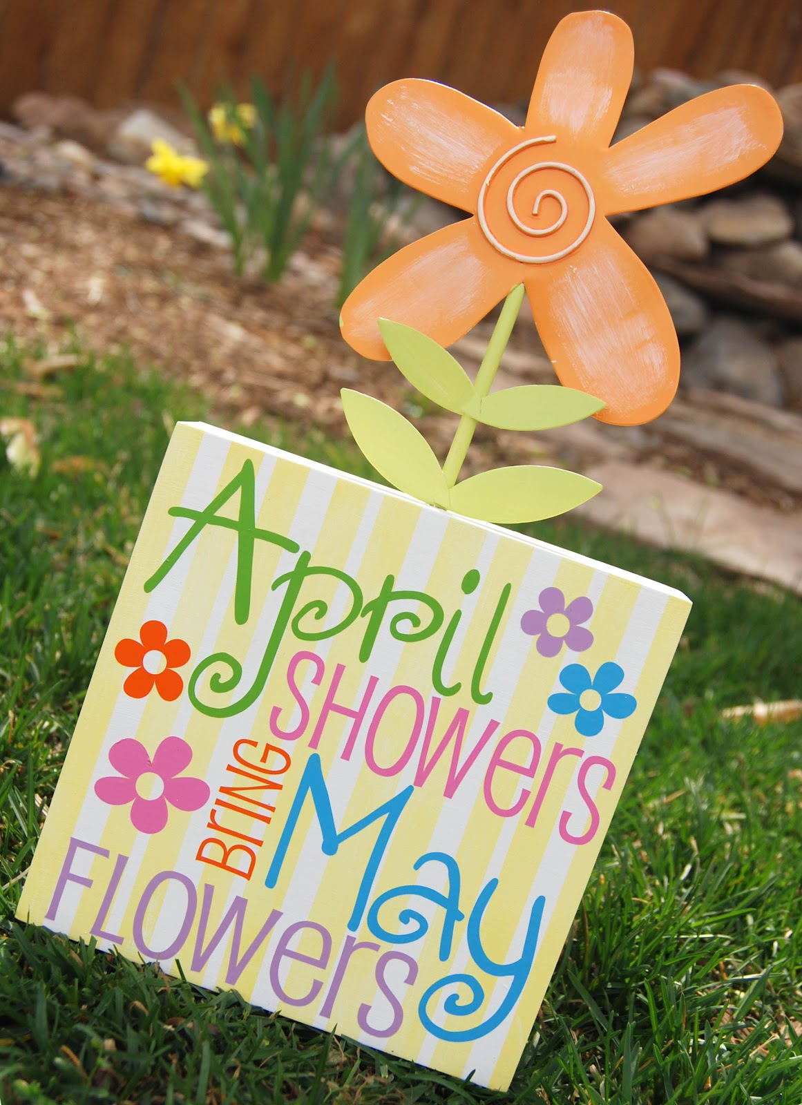 Burton Avenue April Showers Bring May Flowers Block