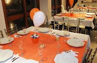 mesas dos convidados da festa