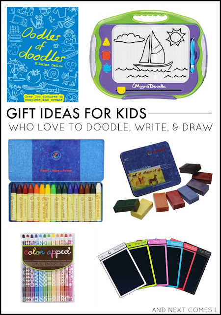 Gift ideas for kids who love to doodle, write, and draw from And Next Comes L
