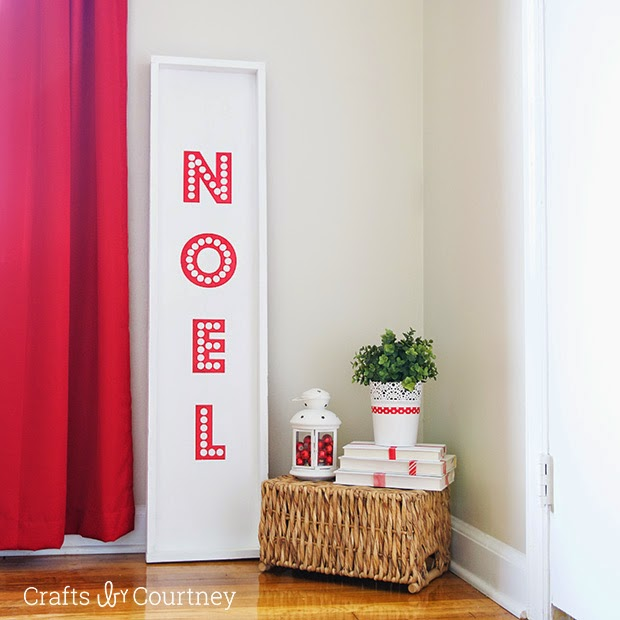 5 favorite Christmas Wonderful Links DIY Noel sign