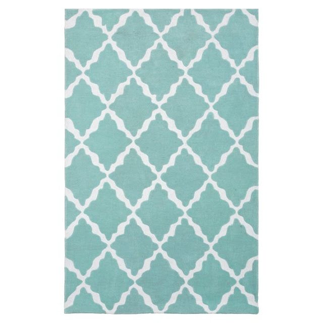 POTTERY BARN TEEN LATTICE RUG