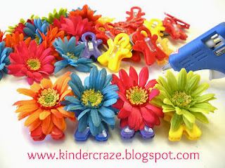 DIY magnetic flower clips tutorial