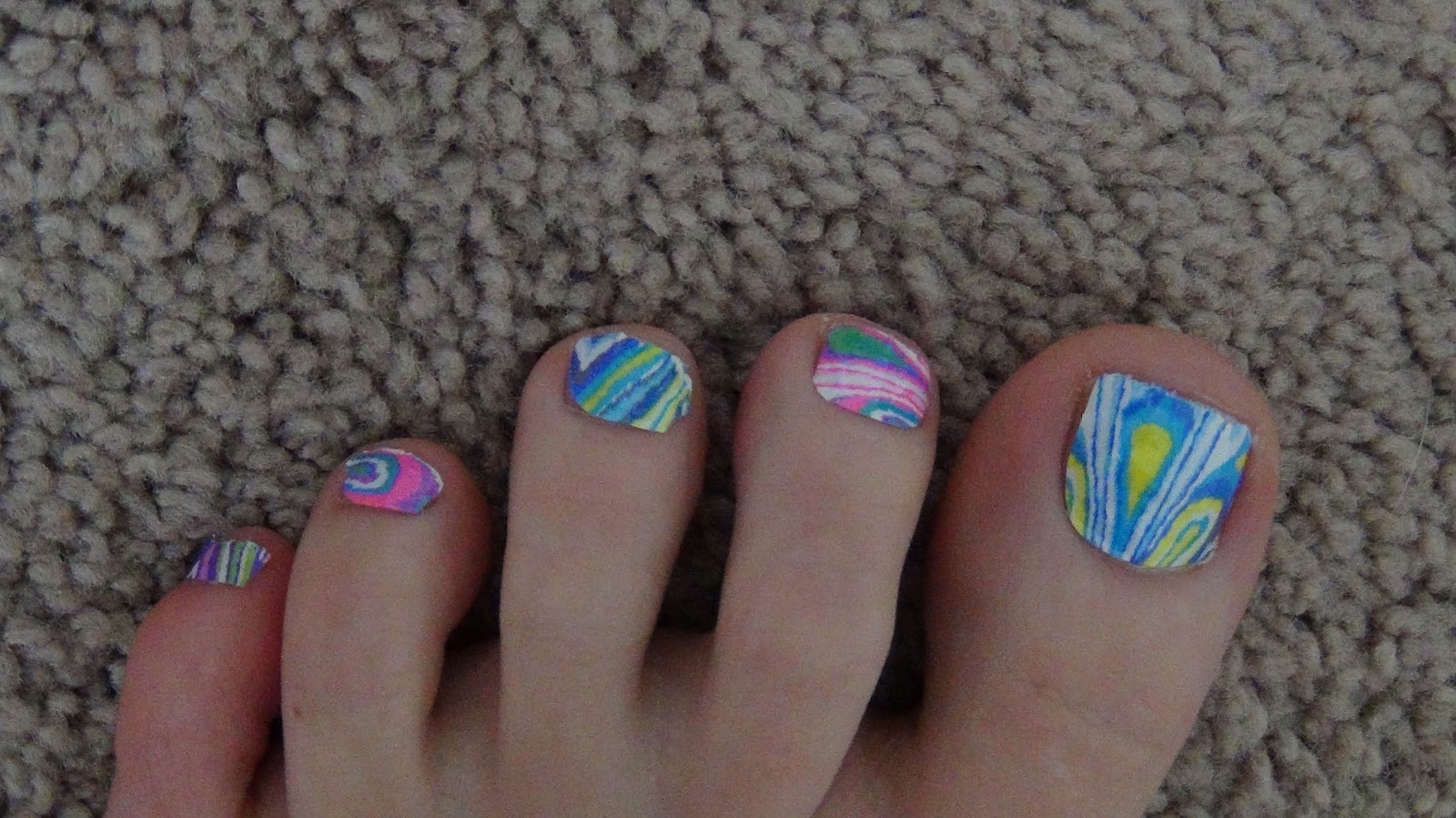It Took Me Awhile To Ly Them My Toes Because They Only Include Strips That Fit Your Toe And Then Finger Nails