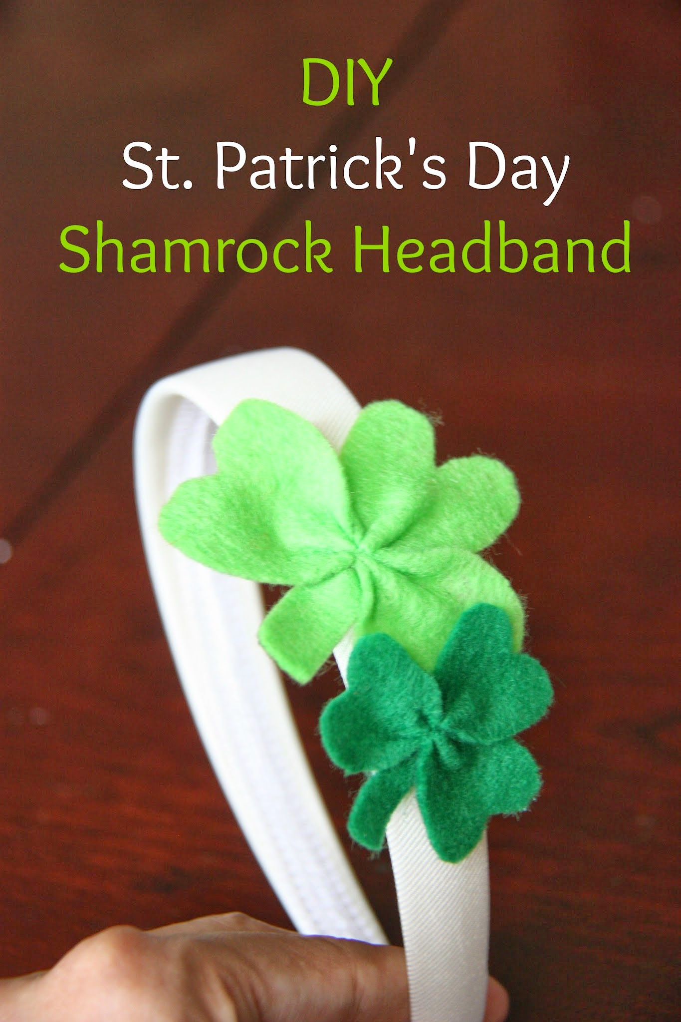 DIY St. Patrick's Day Shamrock Headband