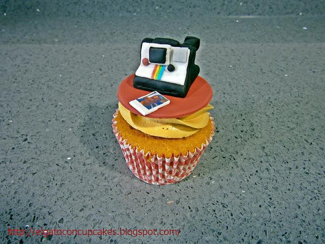 cupcakes cámara de fotos polaroid