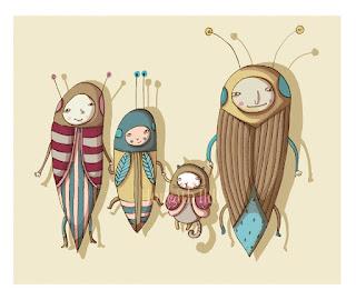 bugs, család, bogarak, anya, gyerek, cica, apa, bugs family, mom, boy, cat, dad