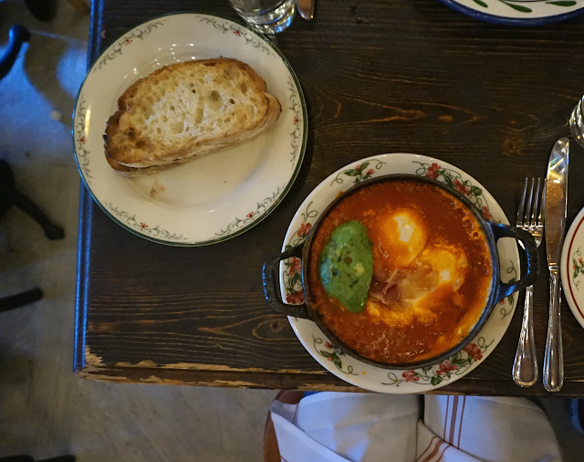 bowery hotel new york city gemma restaurant shakshouka