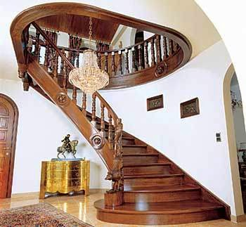 Kerala model wooden staircase kerala style staircase for Interior staircase designs india