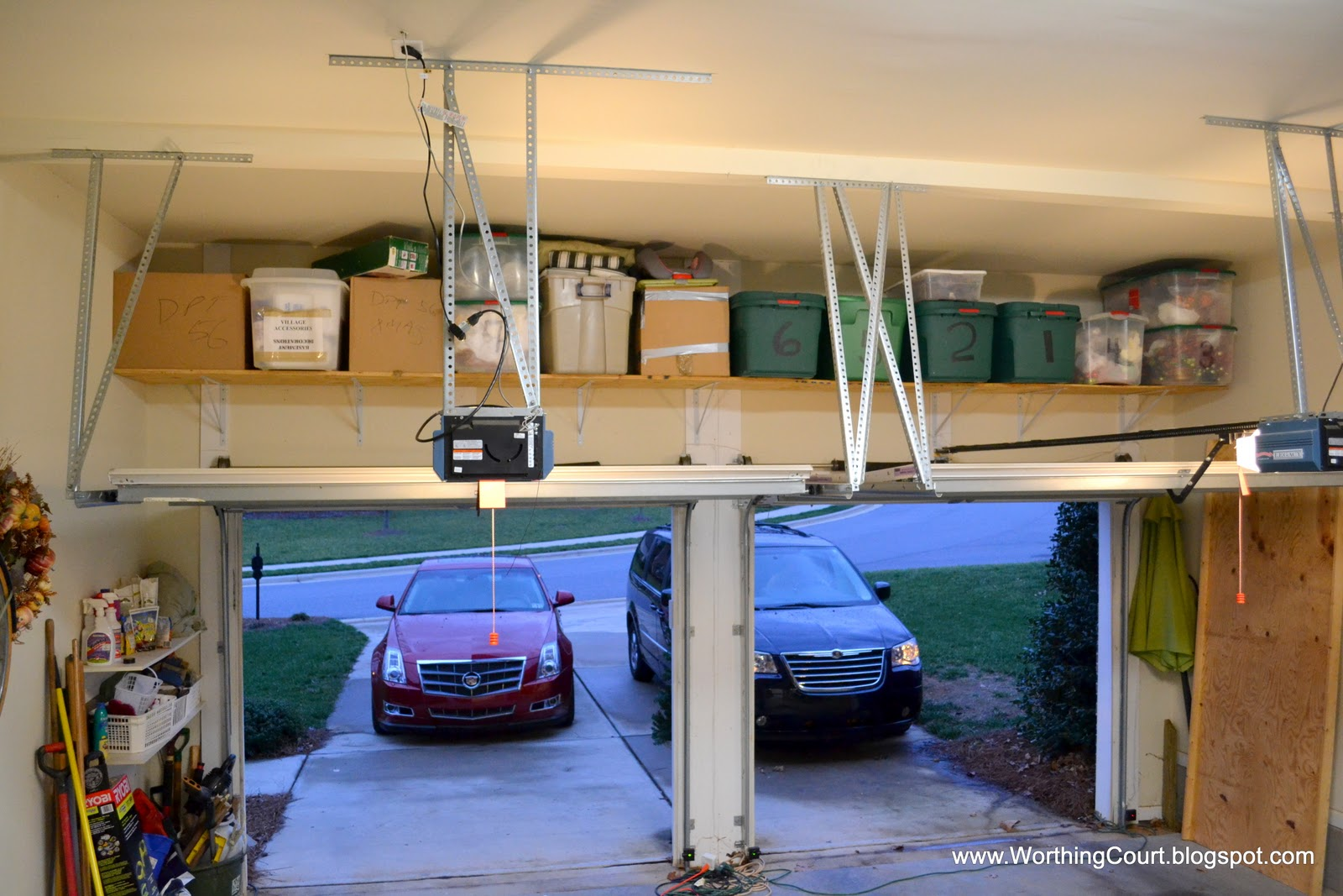 Garage door christmas decorating ideas - How To Organize Christmas Decorations Via Worthing Court Blog
