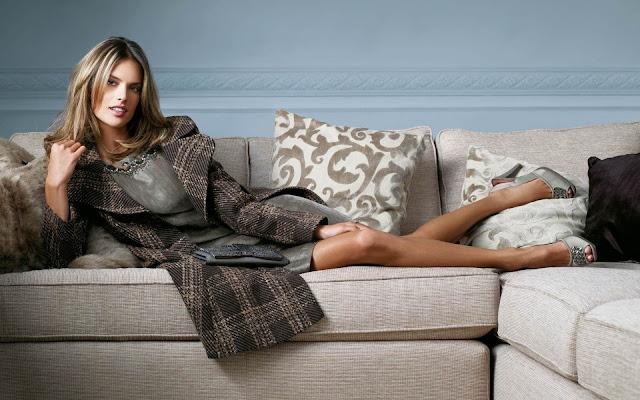Alessandra Ambrosio on Sofa