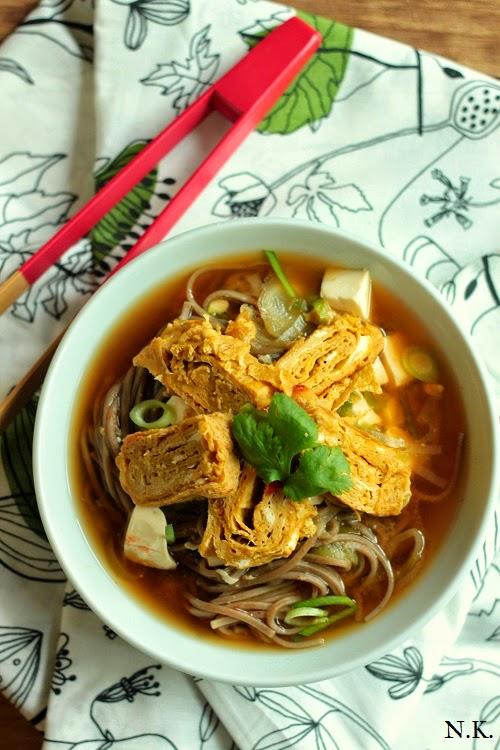 La cuisine du corti soupe miso aux nouilles soba et - Soupe miso ingredient ...