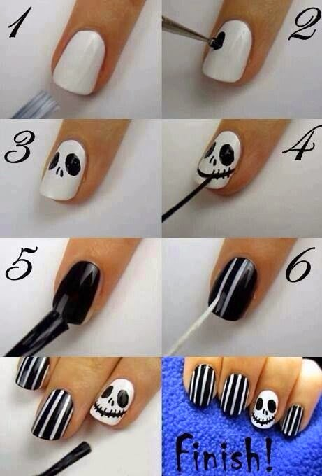 Skull And Crossbones Nail Design From Nail Artist Unveiled Fashion