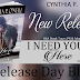 Release Day Blitz: I NEED YOU HERE by Cynthia P. O'Neill