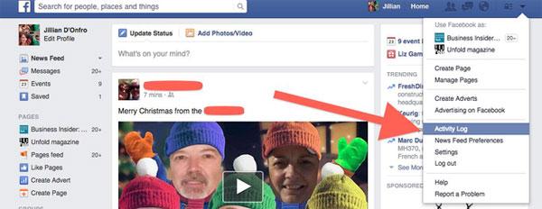 Hướng dẫn xóa các lệnh tìm kiếm trên Facebook 3