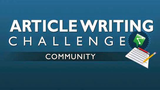 Article Writing Challenge
