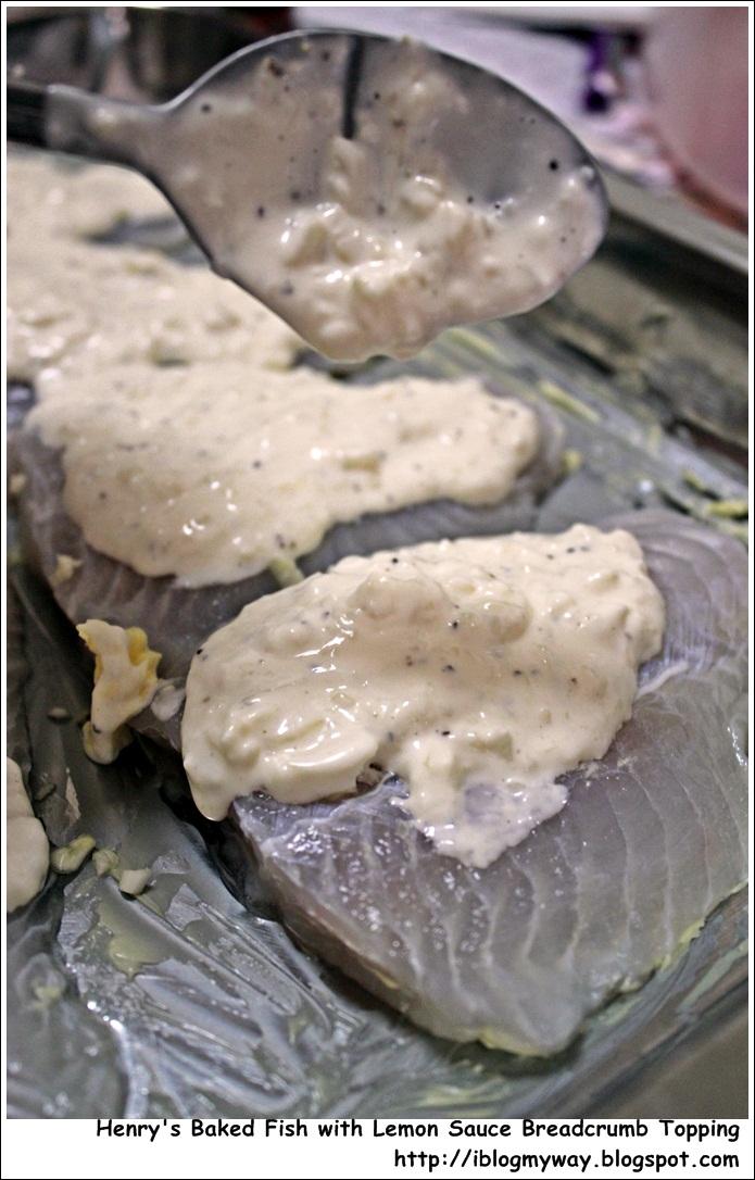 Recipes baked fish with breadcrumb lemon sauce i blog for Baked fish recipe with sauce