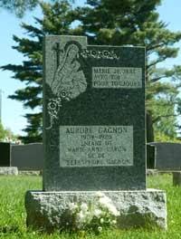 Aurore Gagnon gravemarker