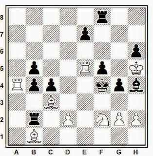 Problema de mate en 2 compuesto por Juan Zaldo (El Ajedrez Español, 1951-52)