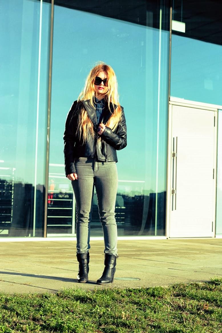 neohappydays, neo happy days, style challenge adidas neo, adidas neo style challenge, mauerpark, Frauen Biker-Jacke adidas neo, adidas neo Frauen Biker-Jacke, adidas neo frauen jeanshemd, cheap monday hose grau, cheap monday jeans grau