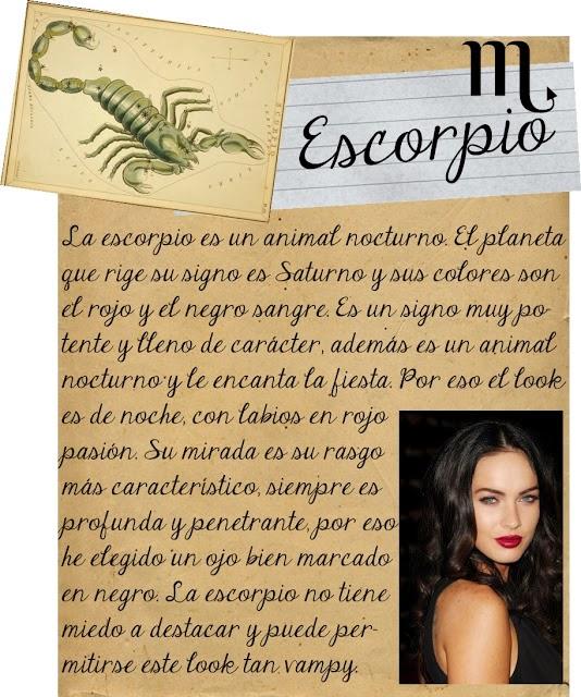 Maquillarse segun tu signo zodiacal, Escorpio