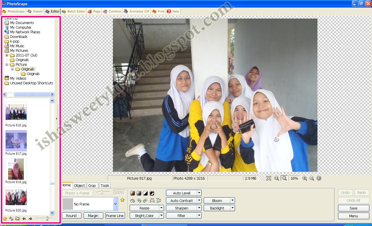 pilih gambar dulu , pilih gambar yg korang nak edit tuh , tengok dekat ...