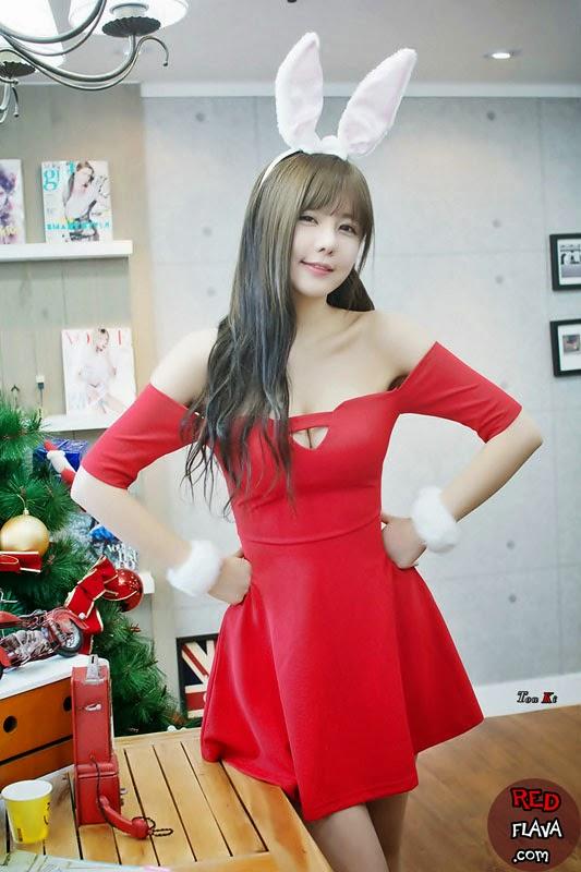 Người đẹp Hàn quốc với váy đỏ thiêu đốt khiêu gợi|raw