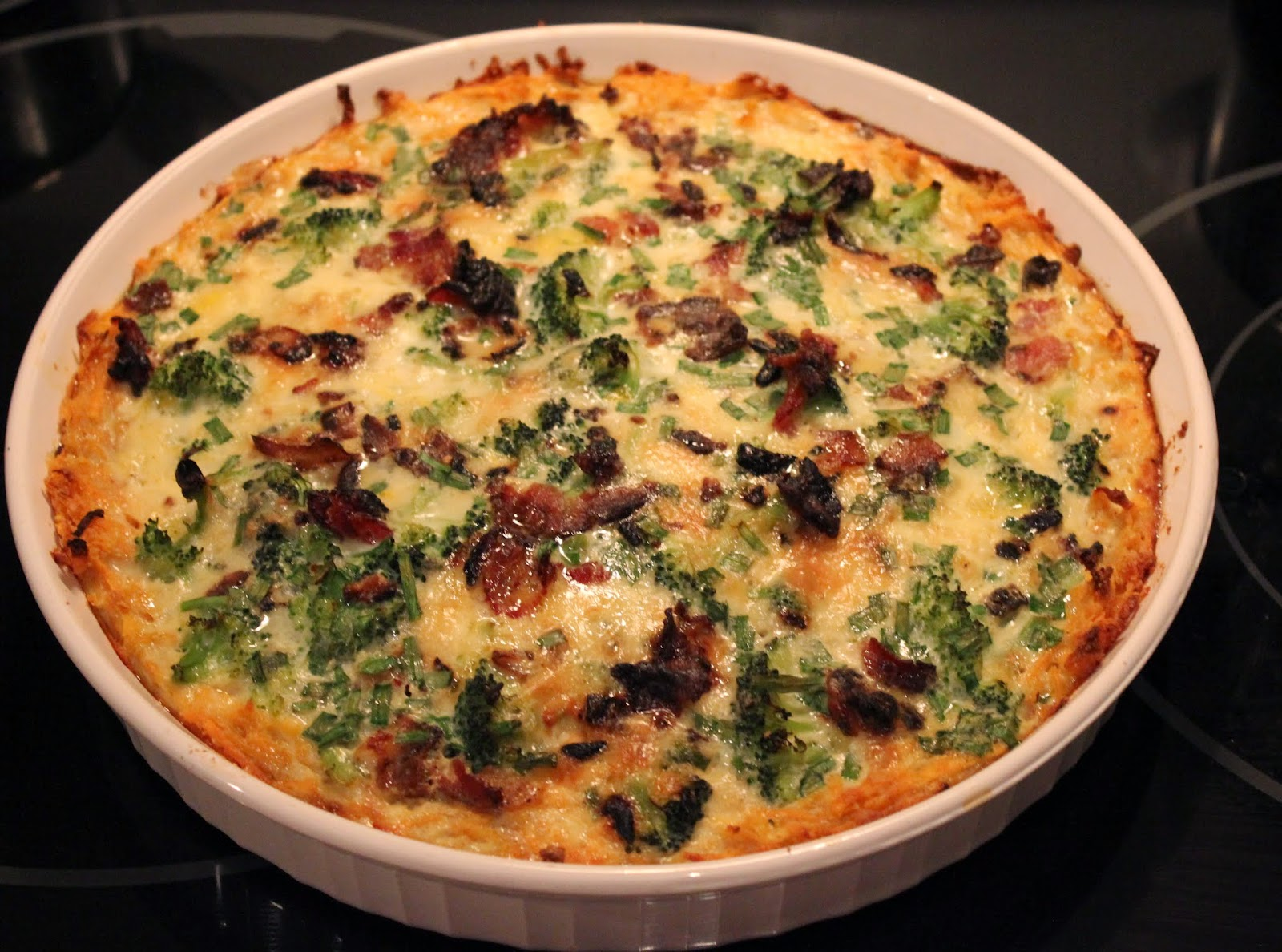 ... Free Travels: Paleo Bacon Broccoli Quiche with Sweet Potato Crust
