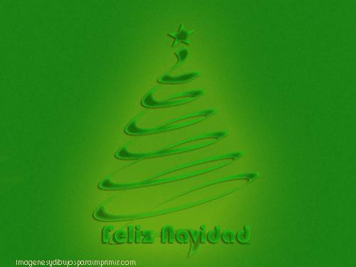 arbol de navidad en verde