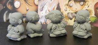 orme magiche bambino dei moschini modellini statuette sculture action figure personalizzate fatta a mano artibal copie in resina da colata
