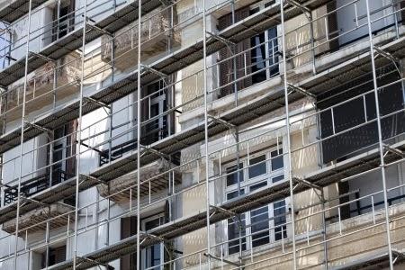 Andamiaje en rehabilitación de edificios