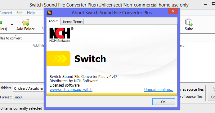 NCH Switch Sound File Converter Plus 4.47 Full With Serial