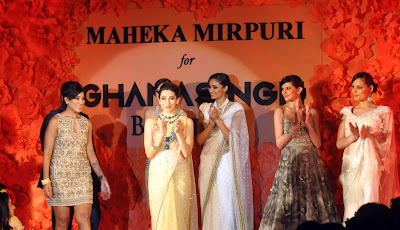 Karisma walks for Ghanasingh & Maheka Mirpuri's collection launch