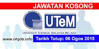 Jawatan Kerja Kosong Universiti Teknikal Malaysia Melaka (UTeM) logo www.ohjob.info september 2015