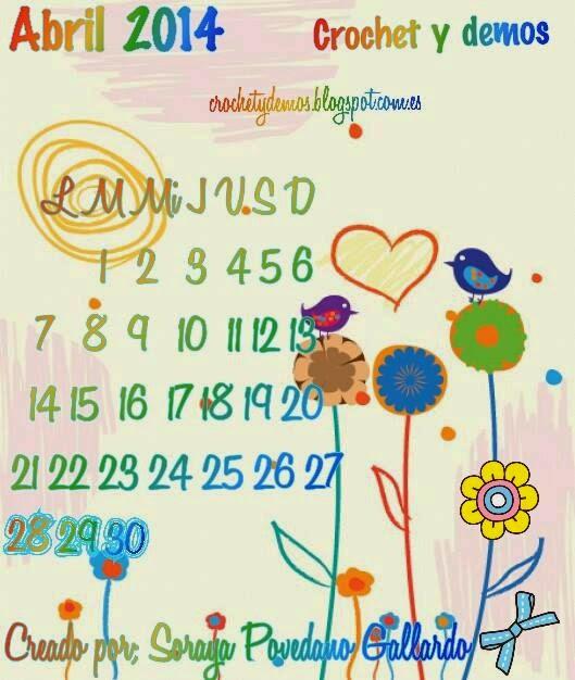 calendario Abril dos